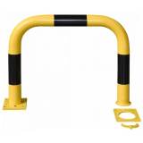 Black Bull Removable Steel Collision Protection Guard - 600 x 750mm - Yellow and Black