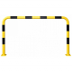 Black Bull Steel Collision Protection Guard - 1200 x 2000mm - Yellow and Black