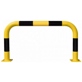 Black Bull Steel XL Collision Protection Guard - 600 x 1000mm - Yellow and Black