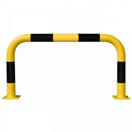 Black Bull Steel Collision Protection Guard - 600 x 1000mm - Yellow and Black