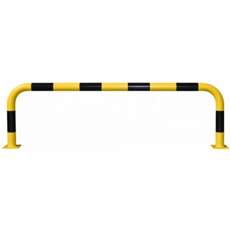 Black Bull Steel Collision Protection Guard - 600 x 2000mm - Yellow and Black