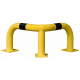Black Bull Steel Corner Protection Guard - 350 x 600 x 600mm - Yellow and Black