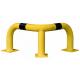 Black Bull Steel Corner Protection Guard - 350 x 600 x 600mm - Yellow and Black