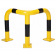 Black Bull Steel Corner Protection Guard - 600 x 600 x 600mm - Yellow and Black