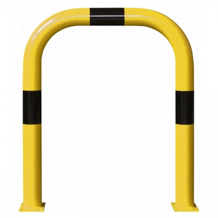 Black Bull Steel XL Collision Protection Guard - 1200 x 1000mm - Yellow and Black