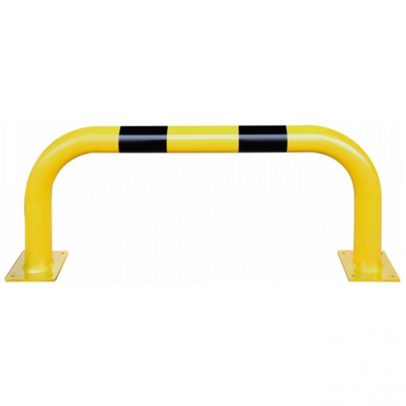 Black Bull Steel XL Collision Protection Guard - 600 x 1500mm - Yellow and Black