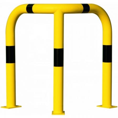 Black Bull Steel XL Corner Collision Protection Guard - 1200 x 900 x 900mm - Yellow and Black