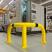 Black Bull Steel XL Corner Collision Protection Guard - 600 x 900 x 900mm - Yellow and Black
