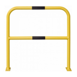 Floor Mounting Steel Hoop Guard - 1000 x 1000mm - Yellow and Black