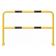 Floor Mounting Steel Hoop Guard - 1000 x 1500mm - Yellow and Black