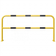 Floor Mounting Steel Hoop Guard - 1000 x 2000mm - Yellow and Black