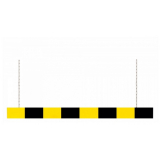Traffic-Line Aluminium Height Restrictor Bar with Suspension Chains - Black and Yellow - choice of lengths