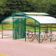 Compound Cycle Shelter with Canopy