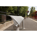The Metro Stainless Steel Perch Bench