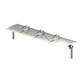 The Metro Stainless Steel Bench