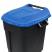 Pedal Operated Wheeled Litter Bin - 120 Litre - Blue Lid