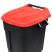 Pedal Operated Wheeled Litter Bin - 120 Litre - Red Lid