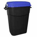 Clasp Lid Litter Bin - 75 Litre - Blue Lid