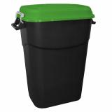 Clasp Lid Litter Bin - 75 Litre - Green Lid