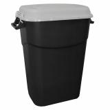 Clasp Lid Litter Bin - 75 Litre - Grey Lid