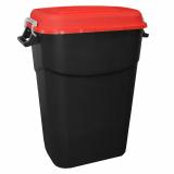 Clasp Lid Litter Bin - 75 Litre - Red Lid
