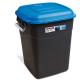 Clasp Lid Litter Bin - 50 Litre - Blue Lid