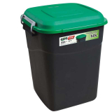 Clasp Lid Litter Bin - 50 Litre - Green Lid