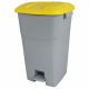 Pedal Operated Recycling Bin - 60 Litre - Yellow Lid