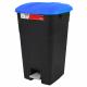 Pedal Operated Litter Bin - 60 Litre - Blue Lid