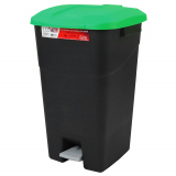 Pedal Operated Litter Bin - 60 Litre - Green Lid