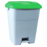 Pedal Operated Recycling Bin - 50 Litre - Green Lid
