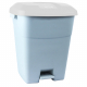 Pedal Operated Recycling Bin - 50 Litre - Grey Lid