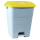 Pedal Operated Recycling Bin - 50 Litre - Yellow Lid