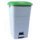 Pedal Operated Recycling Bin - 60 Litre - Green Lid