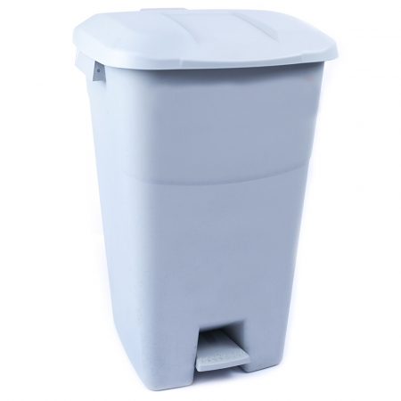 Pedal Operated Recycling Bin - 60 Litre - Grey Lid