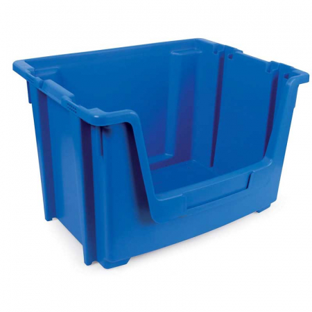 Stackable Open Fronted Storage Pick Bin - 50 Litre - Blue