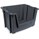 Stackable Open Fronted Storage Pick Bin - 50 Litre - Grey