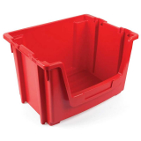 Stackable Open Fronted Storage Pick Bin - 50 Litre - Red