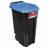Wheeled Litter Bin - 80 Litre - Blue Lid