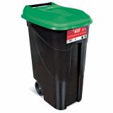 Wheeled Litter Bin - 80 Litre - Green Lid