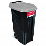 Wheeled Litter Bin - 80 Litre - Grey Lid
