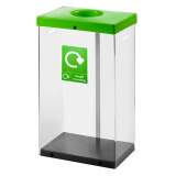 60 Litre Clear Body Recycling Bin