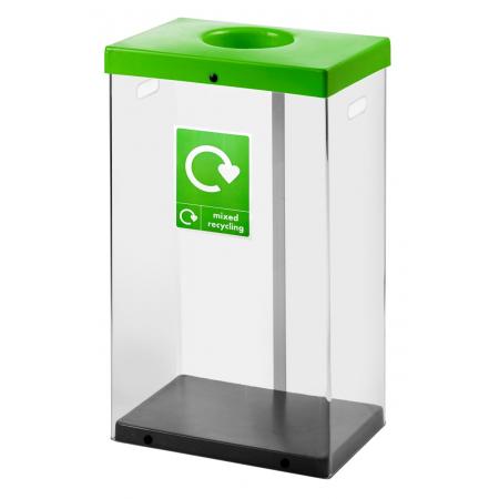 60 Litre Clear Body Recycling Bin