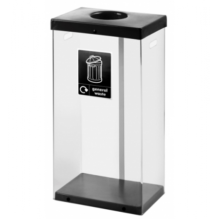 80 Litre Clear Body Recycling Bin