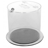Acrylic Lockable Recycling Tube Bin - 12 / 37 Litre