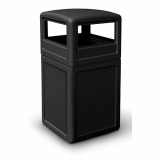 Square Litter Bin with Dome Lid - 140 Litre