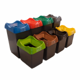Customisable Plastic Waste Bin - 30 Litres