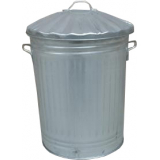 Galvanised Steel Trashcan - 90 Litre