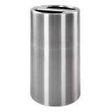 Aluminium Split Compartment Waste Bin - 120 Litre