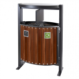Hardwood Dual Litter & Recycling Bin - 78 Litre